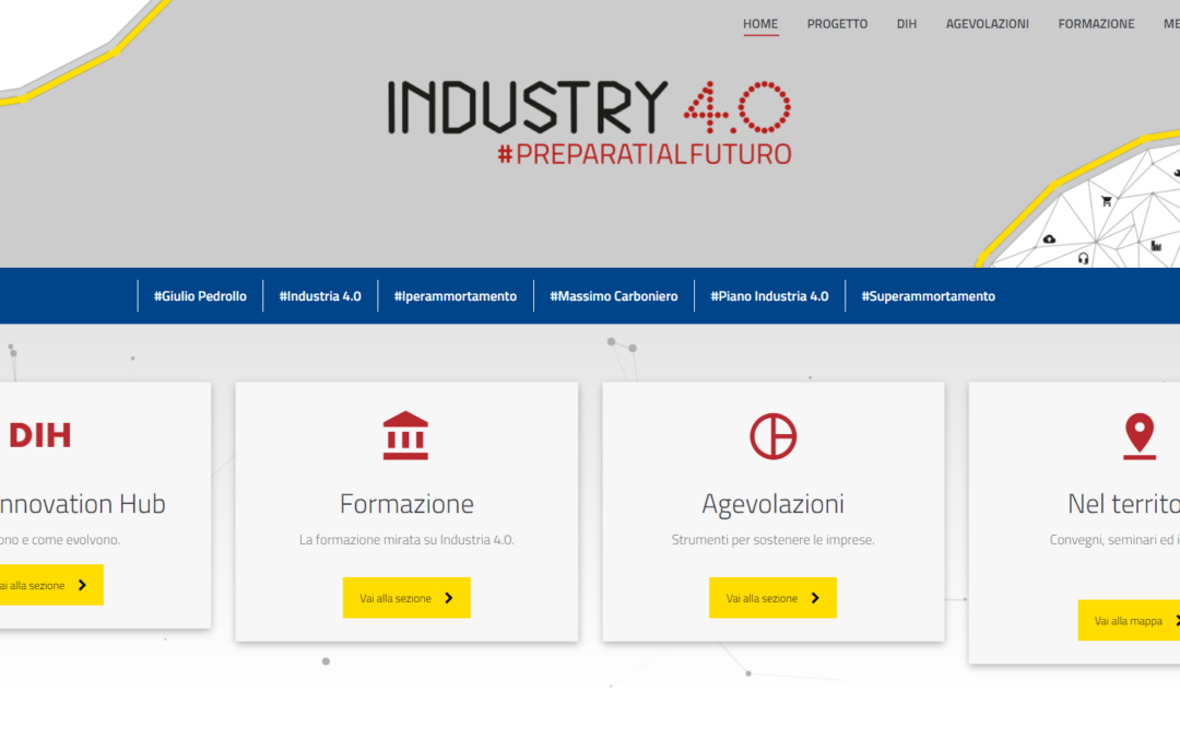 Online the website of the Italian DIH network of Confindustria