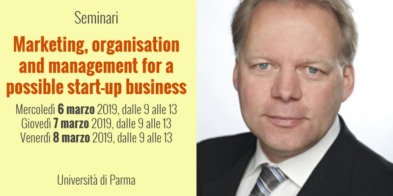 "Ciclo di seminari: ""Marketing, organisation and management for a possible start-up business"""